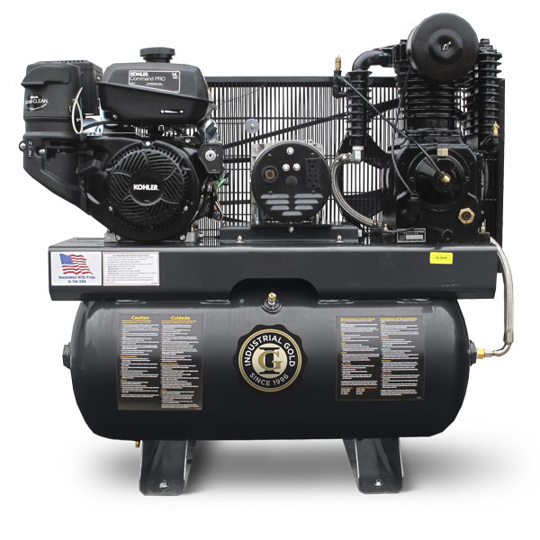 23 cfm Gas/Diesel Engine Compressor/Generator