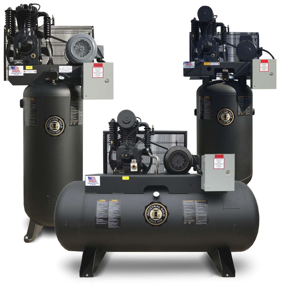 5 Hp Industrial Duty Electric Compressor Compressed Air Systems